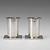 Wiwen nilsson, a pair of candlesticks, lund 1943, sterling.