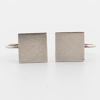 WIWEN NILSSON, a pair of silver ear rings, Lund 1960.