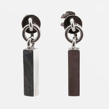 WIWEN NILSSON, örhängen, ett par, silver, Lund 1960,