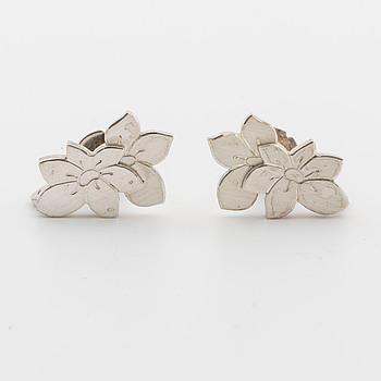 WIWEN NILSSON, örhängen, ett par, silver, Lund 1969,