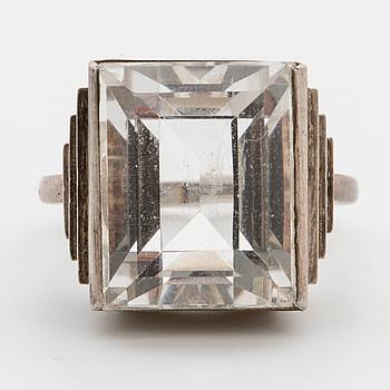 WIWEN NILSSON,  a silver ring, Lund,