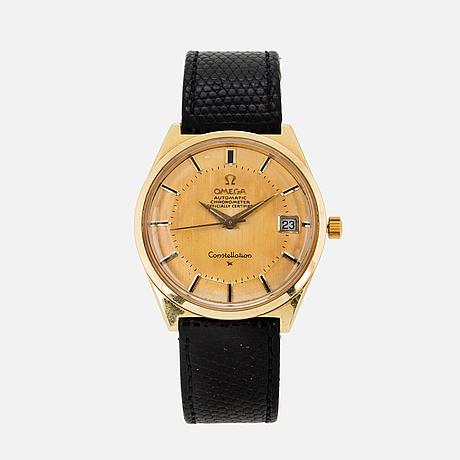 "Omega, constellation, chronometer, ""pie-pan"", wristwatch, 34 mm."