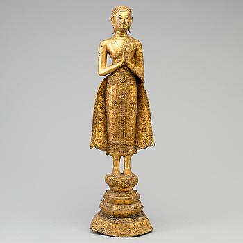 BUDDHA, förgylld brons. Thailand, 1900-tal.