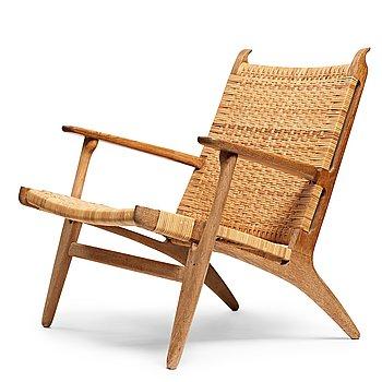 "281. Hans J Wegner, an oak ""CH-27"" easy chair, Carl Hansen & Son, Denmark, 1950-60's."