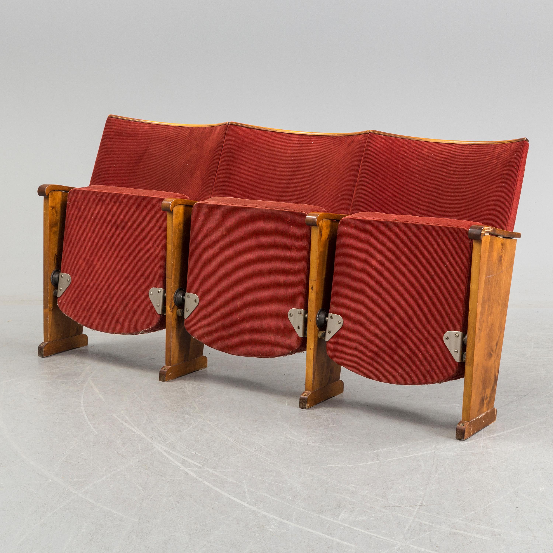 A mid 20th century cinema bench  - Bukowskis