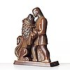 """Gunnar nylund, a stoneware sculpture of """"androcles and the lion"""", rörstrand, sweden 1950's."""