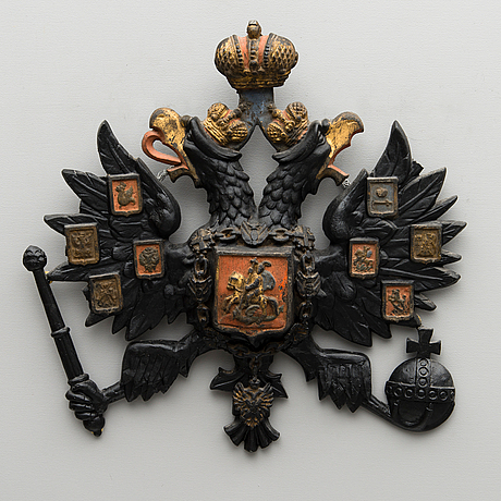 An imperial russian coat-of-arms, second half of 19th century.