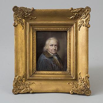 WERNER GREVE, tillskivet, MINIATYRPORTRÄTT, gouache, bär signatur FR Greve och datering 1845.