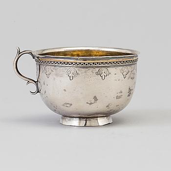 SUPKOPP, silver, Petter Sellstedt, Sundsvall 1750-1790.