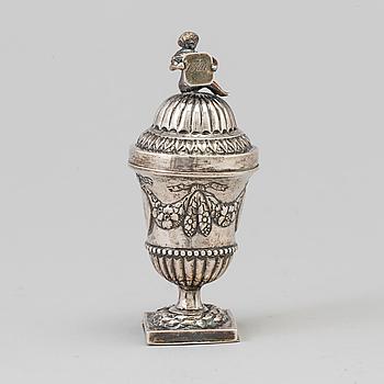 URNA MED LOCK, silver, 1800-tal.