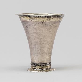 BÄGARE, silver, Johan Leffler, Falun 1764.