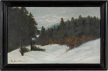 JOHAN OSSIAN-ANDERSSON, olja på duk, signerad Th Sandström och daterad 1913.