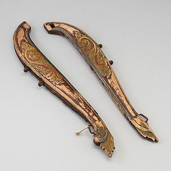 A pair of horse hames, 18th/19th century.