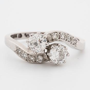 SYSKONRING, med gammalslipade diamanter.