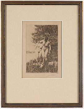 ANDERS ZORN, ANDERS ZORN, etching, 1917, signed.