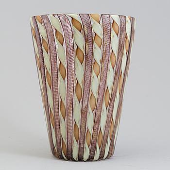 VAS, glas, troligen Paolo Venini och Fulvio Bianconi, Venini, Murano.