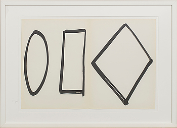 ELLSWORTH KELLY, ELLSWORTH KELLY,ELLSWORTH KELLY, färglitografi, from Derrière le Miroir nr 149 1964.