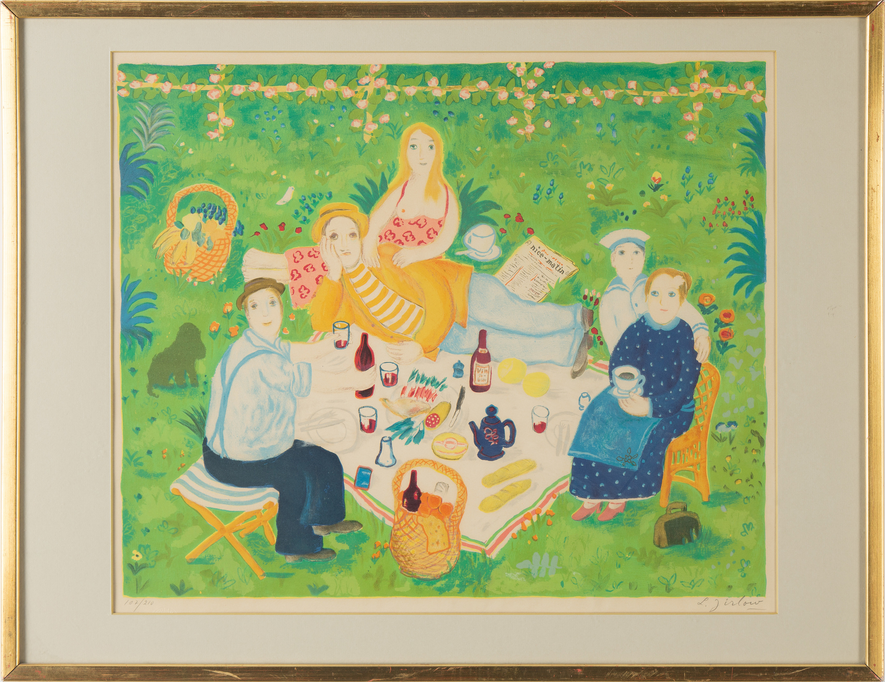 LENNART JIRLOW, LENNART JIRLOW, lithograph in colours, signed and ...