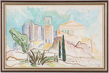 EINAR FORSETH, EINAR FORSETH, oil on canvas, signed and dated 1951.
