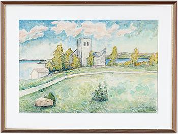 EINAR FORSETH, akvarell på papper, signerad och daterad 1942.