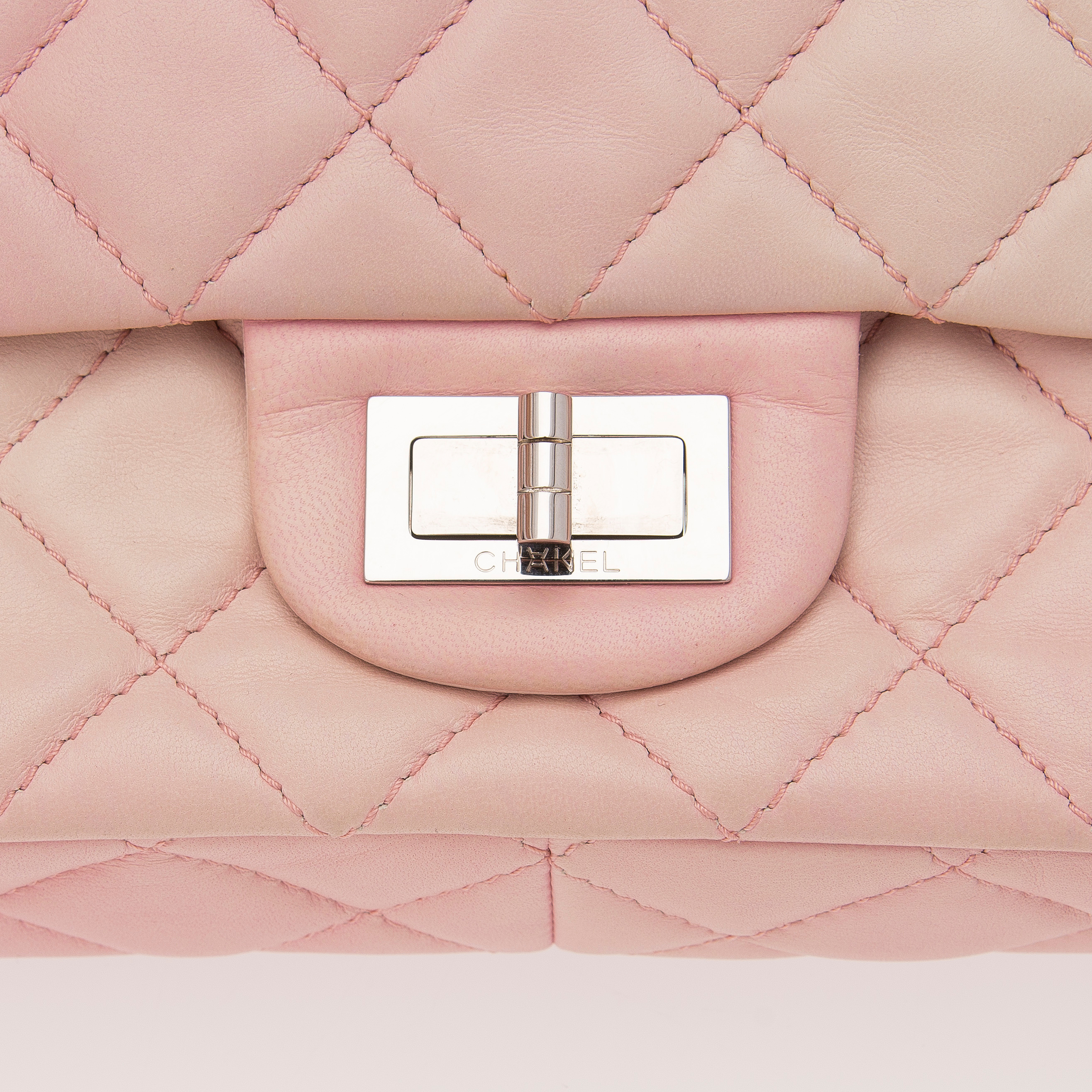 25e8465ff1e7 Pink White Ombre Degrade 2.55 Reissue 227 Jumbo Double Flap Bag. - Bukowskis