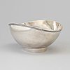 Ainar axelsson, a sterling silver bowl from gab, stockholm, 1967.