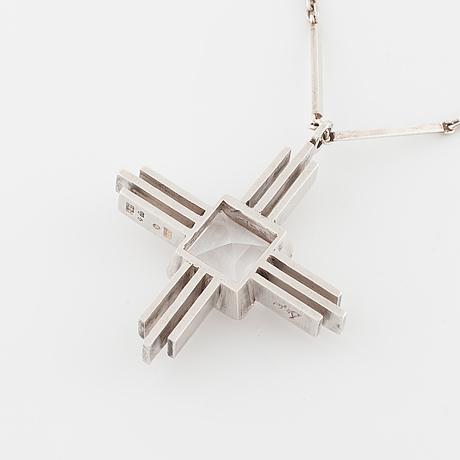 AteljÉ stigbert, stockholm, 1943, a faceted rock crystal pendant.