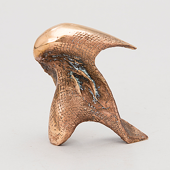LAILA PULLINEN, skulptur, brons,. signerad och daterad -81, numrerad 3/9.