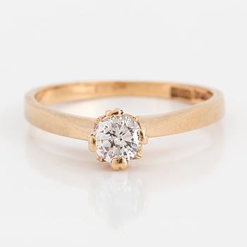 DIAMANTRING, med briljantslipad diamant 0.30 ct.