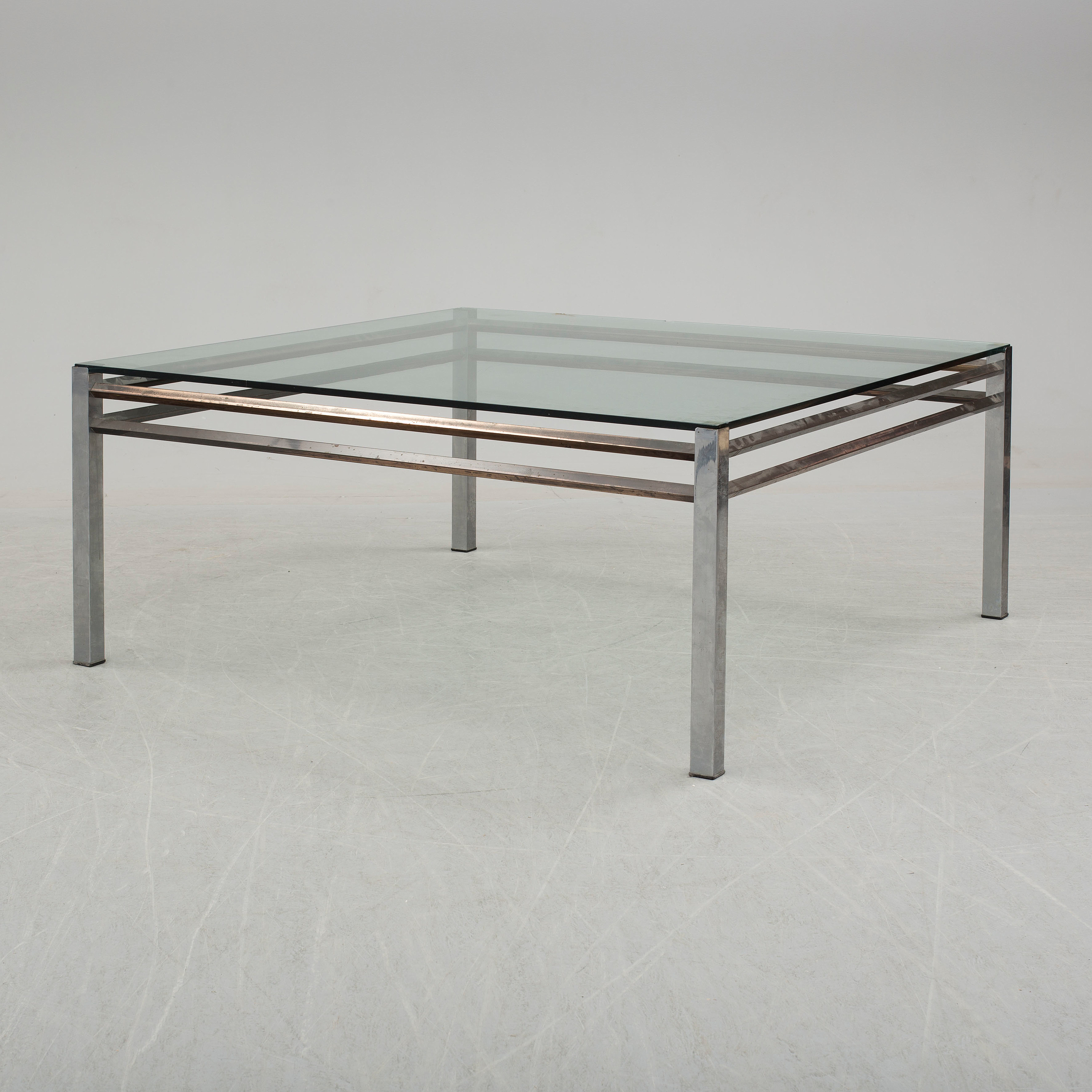 An End Of The 20th Century Coffee Table With Glass Top Bukowskis