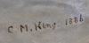 OkÄnd konstnÄr, olja på duk, sign cm king, dat 1886.