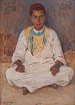 "409. Alexandre Roubtzoff, ""Muldi"", portrait of a Tunisian boy."