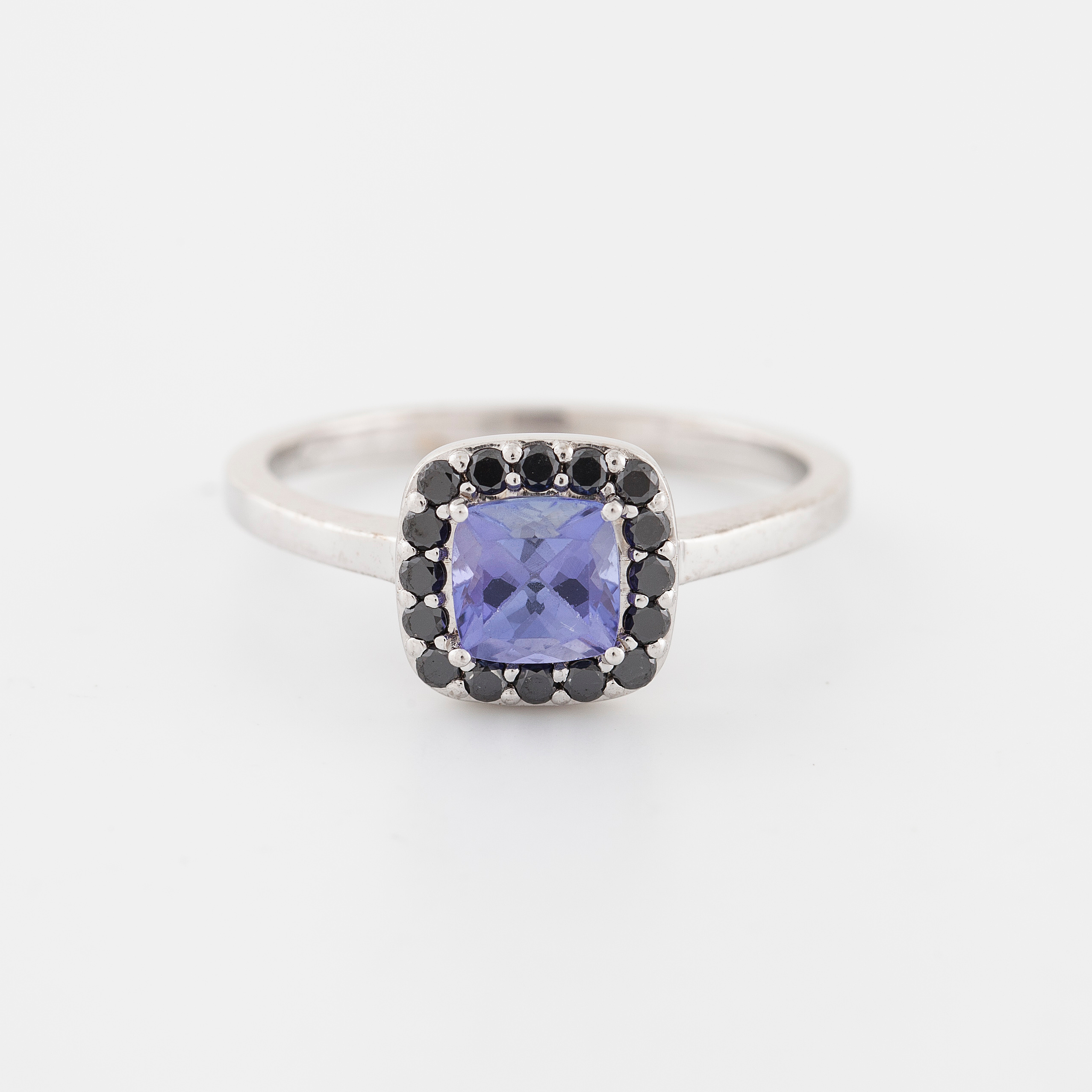 yellow box ring black gold diamond carat in william tanzanite product white