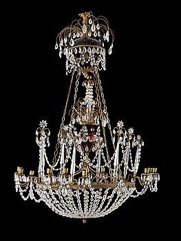 1014. A Russian twelve-light chandelier, circa 1900.
