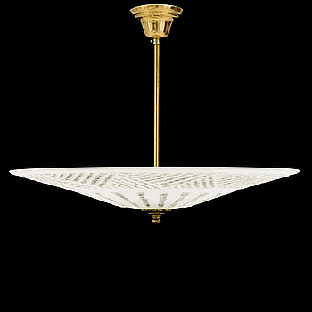 A 1940s / 50s ceiling light. Height ca 40 cm.