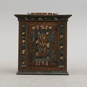 VÄGGSKÅP, Allmoge, daterat 1798.