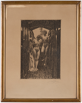 ANDERS ZORN, ANDERS ZORN, etching, signed.