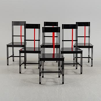 "BJÖRN ALGE, stolar, ""Frame"", 6 st, 1980-tal."