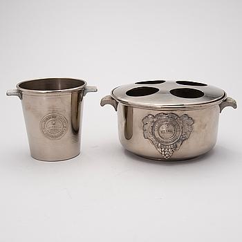 SAMPPANJAJÄÄHDYTTIMIÄ, 2 kpl, metallia, Heidsieck & Co,  Ranska 1900-luku.