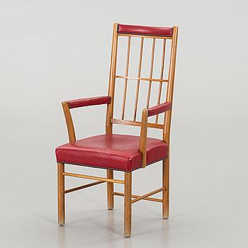 JOSEF FRANK, karmstol, modell 652, för Firma Svenskt Tenn 1900-talets andra hälft.