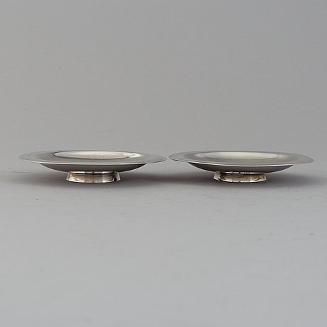 Two sterling silver dishes from michelsen, denmark, 1937