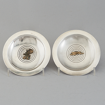 Two sterling silver dishes from Michelsen, Denmark, 1937.