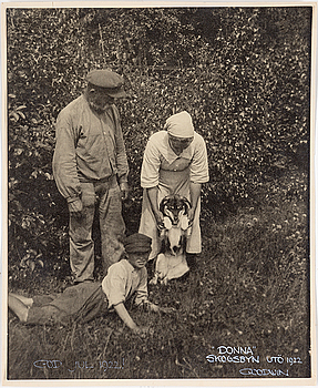 HENRY B. GOODWIN, fotografi, signerad Goodwin och daterad Utö 1922.