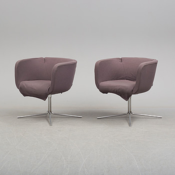 A pair of easy chairs by Piero Lissoni for Living Divani.