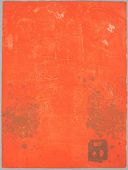ANTONI CLAVÉ, carborundum etching, signed, E.A.