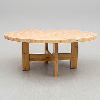 a pine wood dining table by Roland Wilhelsson, latter part of 20th century.