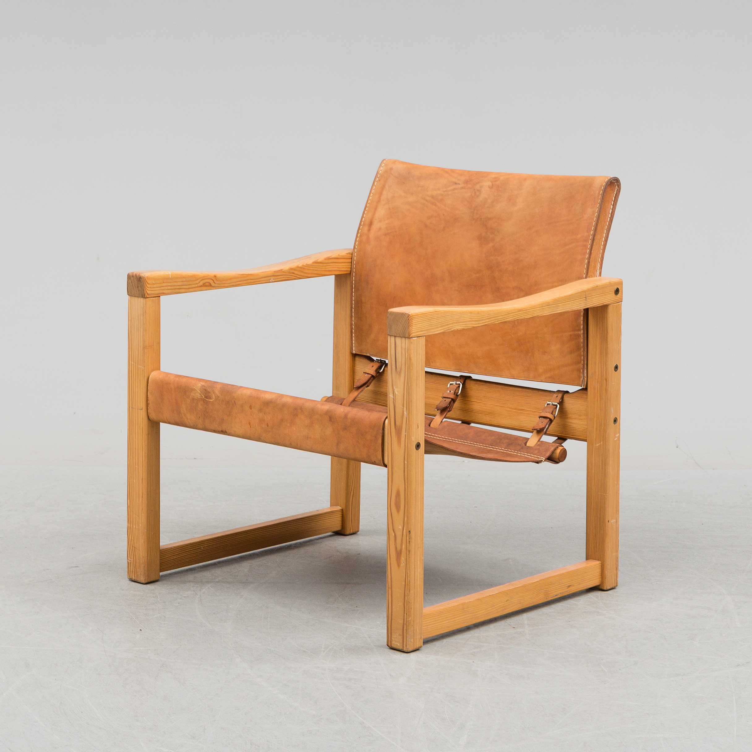 IKEA, A Leather And Pinewood Easy Chair By Karin Moberg, For IKEA, Late  20th Century.   Bukowskis