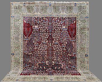 MATTA, Figural Nain , part silk , s.k 9 LAA ,     Ca 425x325.