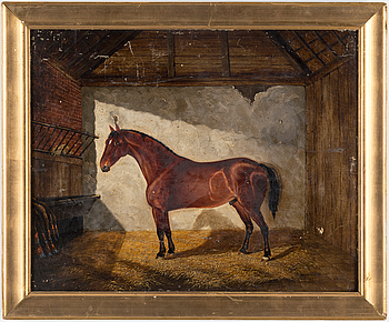 UNIDENTIFIED ARTIST, oil on canvas, England, signed S. Sharp and dated 1851.
