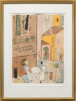 MADELEINE PYK, färglitografi, signerad och numrerad 1089/5000.